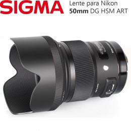 Lente Sigma 50mm f/1.4 DG HSM ART - para Nikon