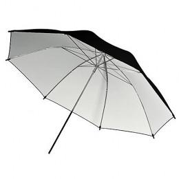 Sombrinha Rebatedora 2x1 Preta e Branca - 91cm