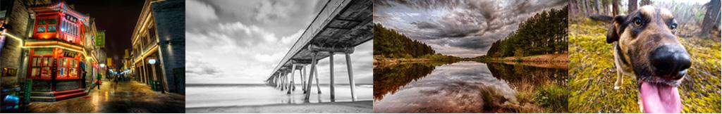 Exmeplos de fotos tiradas com lente grande angular