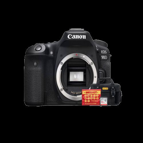 Câmera Canon 90D, Full HD, WiFi (corpo) - Ganhe Kit Bokeh