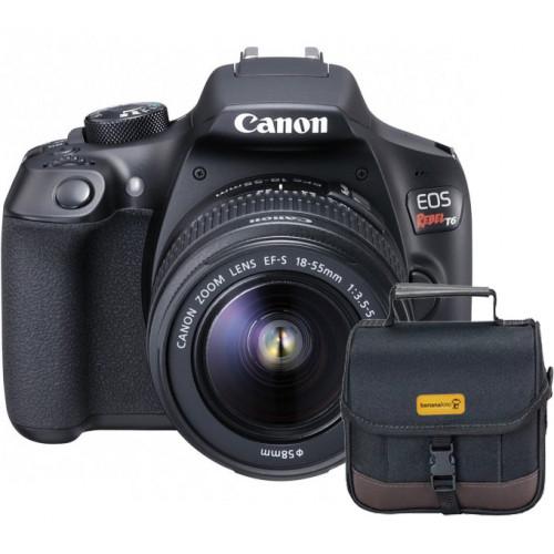 Canon T6 Lente 18-55mm Bolsa
