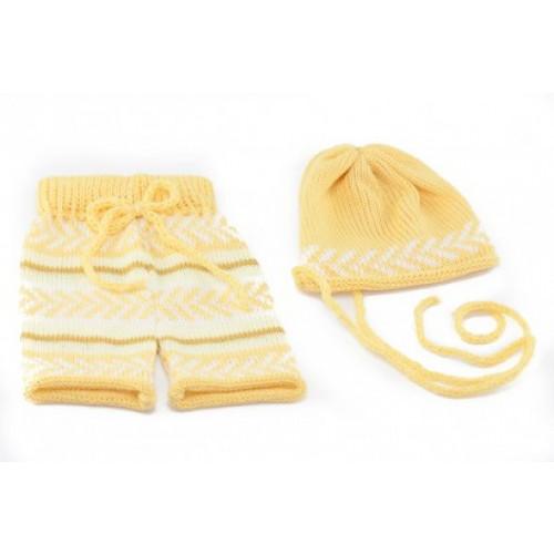 Conjunto Mesclado Newborn Amarelo
