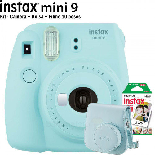 Kit Instax mini 9 Azul Aqua