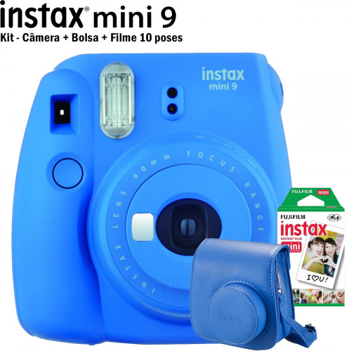 Kit Instax Mini 9 Azul cobalto