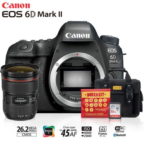 Kit Câmera Canon 6D Mark II corpo