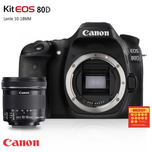 Canon 80D lente 10-18mm