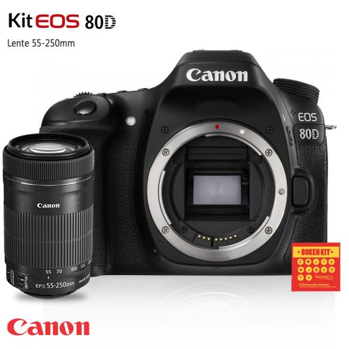 Canon 80D Lente 55-250 STM