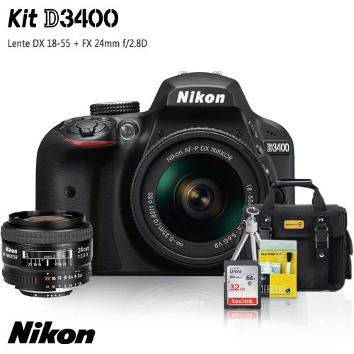 Câmera DSLR Nikon D3400