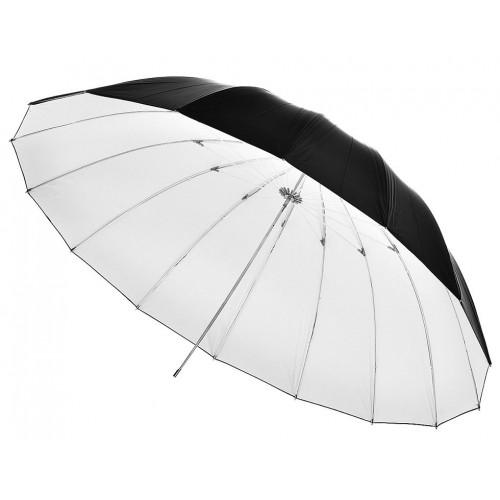 Sombrinha rebatedora preta e branca 150cm