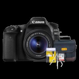 Canon 80D Kit 18-55mm + Bolsa + Cartão 32GB + Mini Tripé + Kit Limpeza