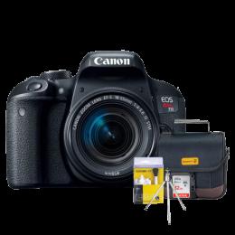 Câmera Canon T7i com Lente 18-55mm + Bolsa + Cartão 32GB + Mini Tripé + Kit Limpeza