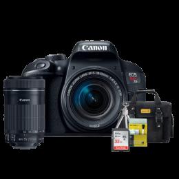 Canon T7i Kit Premium 18-55mm / 55-250mm + Bolsa + Cartão 32GB + Mini Tripé + Kit Limpeza