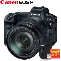 Canon EOS R Mirrorless + Lente RF 24-105 + Bolsa Canon + Kit Bokeh + Cartão 16GB