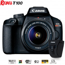 Canon T100 com lente EF-S 18-55 III + Bolsa Canon Original