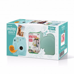 Câmera Instax Mini 9 Kit - (Câmera + Bolsa + Filme 10 poses)  - Várias cores
