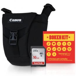 Bolsa Canon Original T6, T6i, T7i, 80D / Kit Bokeh / Cartão 16GB (c10)
