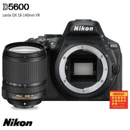 Câmera Nikon D5600 + Lente DX 18-140mm VR