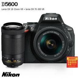 Câmera Nikon D5600 + Lentes DX 18-55 VR e DX 70-300 VR