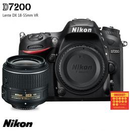 Câmera Nikon D7200 + Lente DX 18-55mm VR