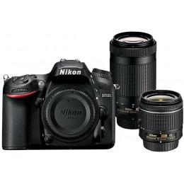Nikon D7200 + Lentes DX 18-55 / DX 70-300 + Bolsa + Cartão 32GB + Mini Tripé + Kit Limpeza