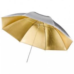 Sombrinha Rebatedora 2 em 1 Dourada / Prata - 84cm