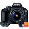 Canon T100 com lente EF-S 24mm