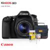 Câmera Canon 80D 24.2MP + Lente 18-55mm + Bolsa + Cartão 32GB + Kit Limpeza + Tripé