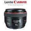 Lente EF 50mm f/1.2 USM Canon
