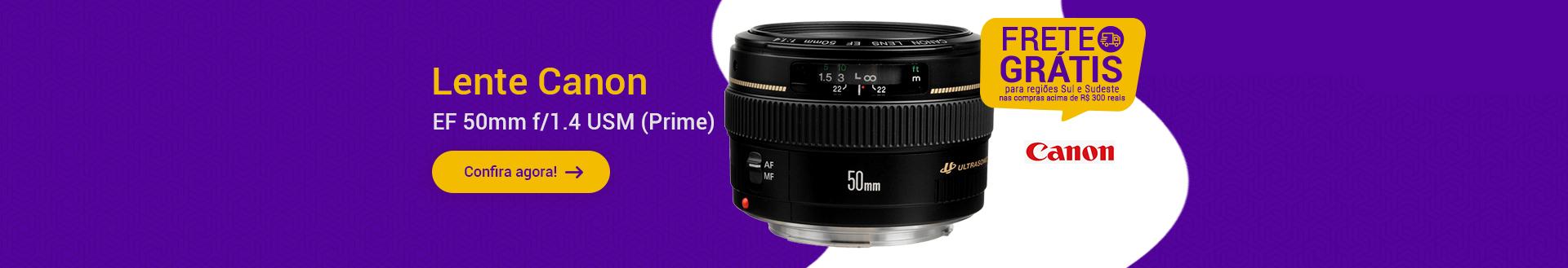 Lente Canon EF 50mm f/1.4 USM (Prime)
