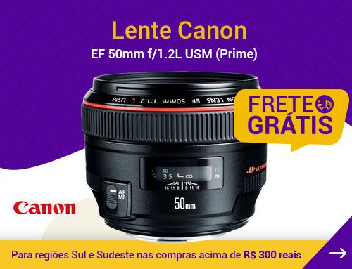 Lente Canon EF 50mm f/1.2L USM (Prime)