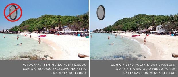 Como obter cores mais vivas em fotografias de paisagem com filtro polarizador
